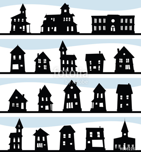 Old House clipart old village Cartoon including old village mansions