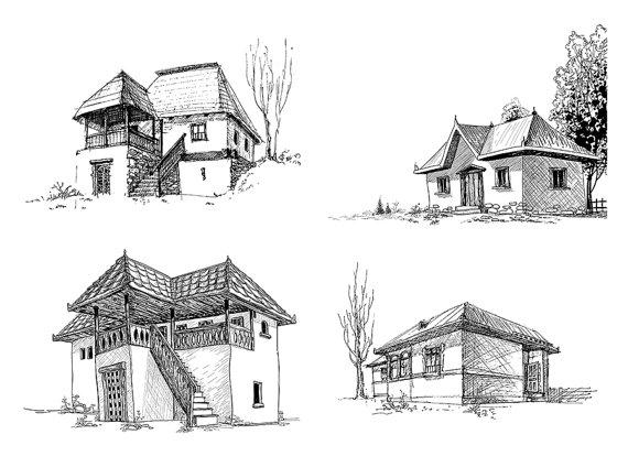 Old House clipart sketch 4 Old Studio Download Art