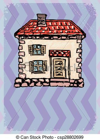 Old House clipart town background Of motive grunge house with