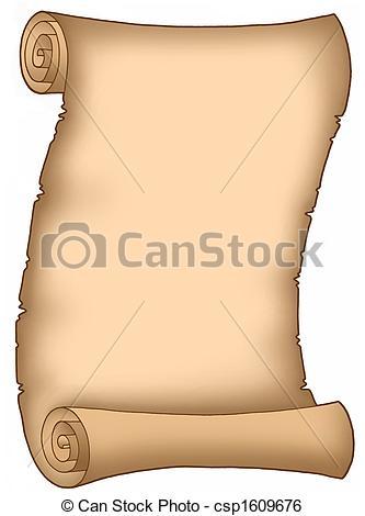 Old Letter clipart Letter Stock Parchment csp1609676