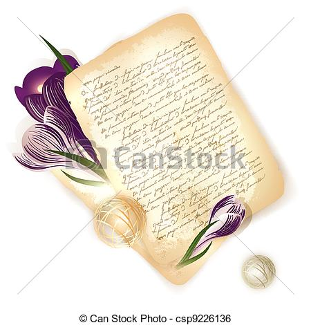 Old Letter clipart Old crocus of with