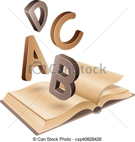 Old Letter clipart book Illustration Brown of and Letters
