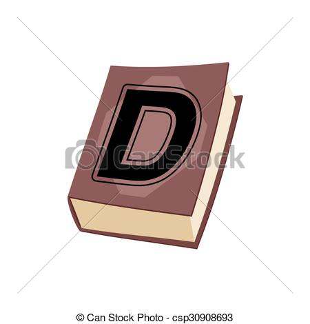 Old Letter clipart book With e of with alphabetical