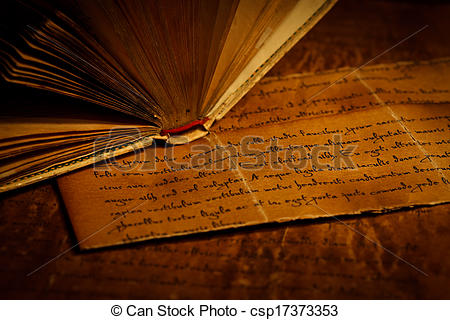 Old Letter clipart book Of Detail Old book csp17373353
