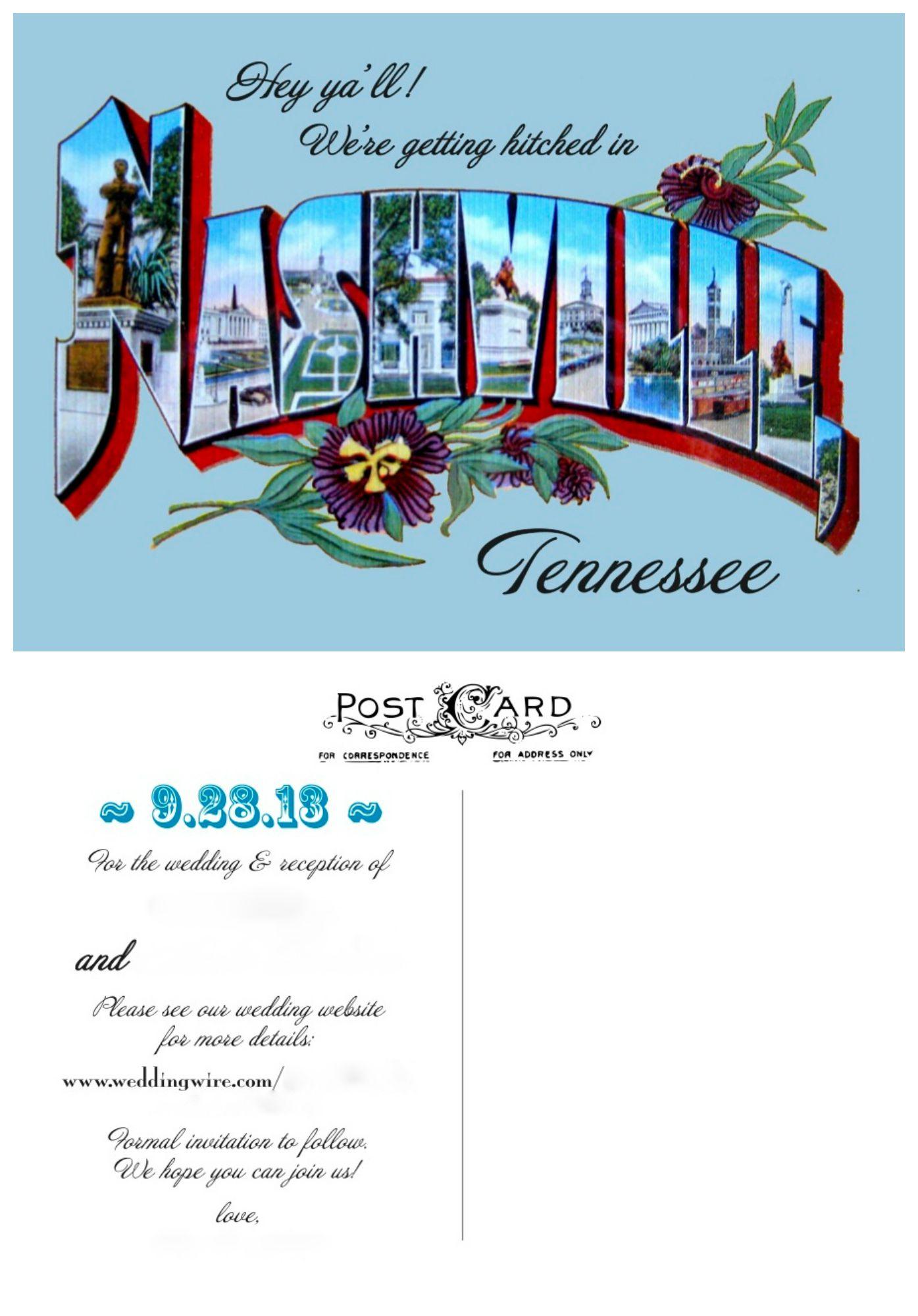 Old Letter clipart brochure The postcard timey old Nashville