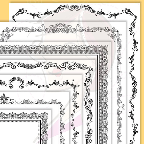Old Letter clipart certificate Antique Award Page Award as