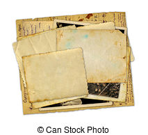 Old Letter clipart cover page Old background isolated copybook page