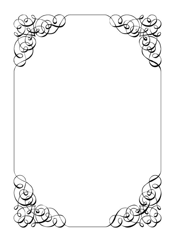 Old Letter clipart frames Clipart Wedding Borders Frames And