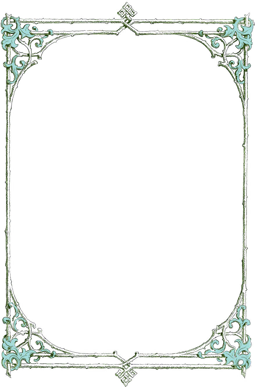 Old Letter clipart frames Leafy green clip from book