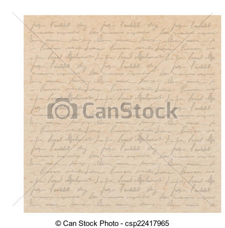 Old Letter clipart hand  old with old handwriting