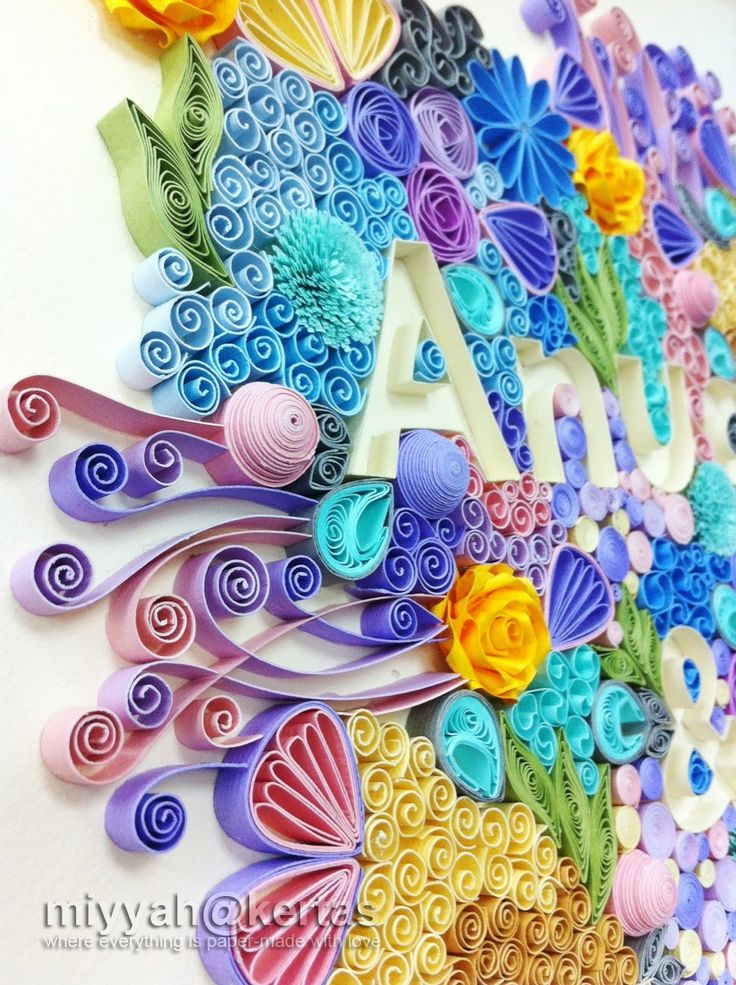 Old Letter clipart kertas NAME best Quilling Colours images