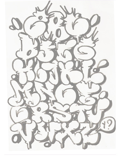 Old Letter clipart kertas Alphabet imprimer en formes :
