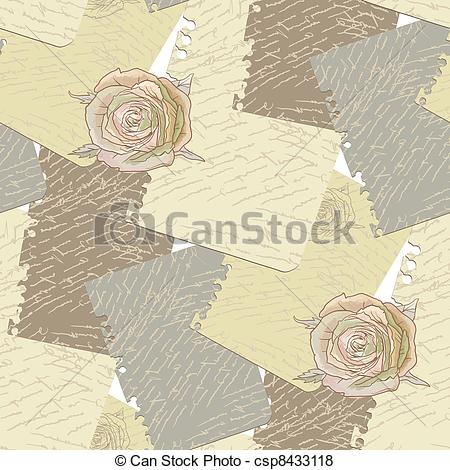 Old Letter clipart treasure box Notebook old old worn Vector