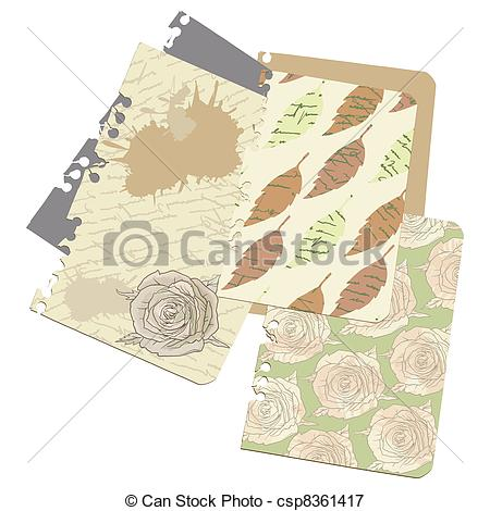 Old Letter clipart notebook Csp8361417 Art Love Free dry