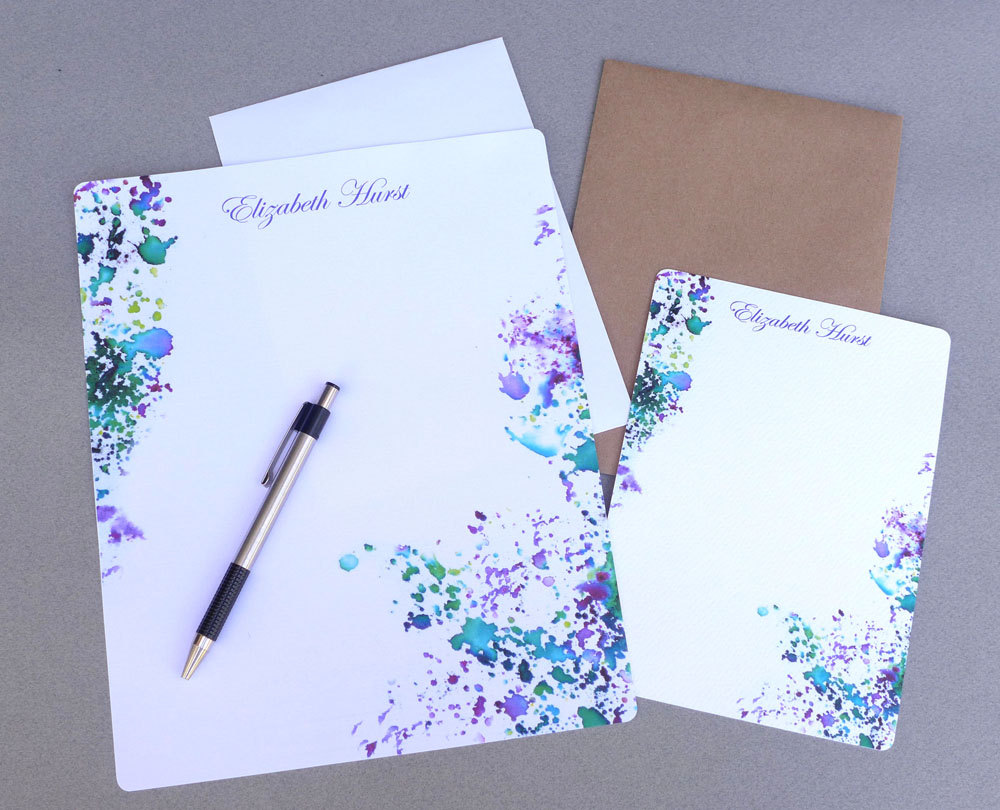Old Letter clipart notepad paper Writing Flat Writing Personalized Stationery