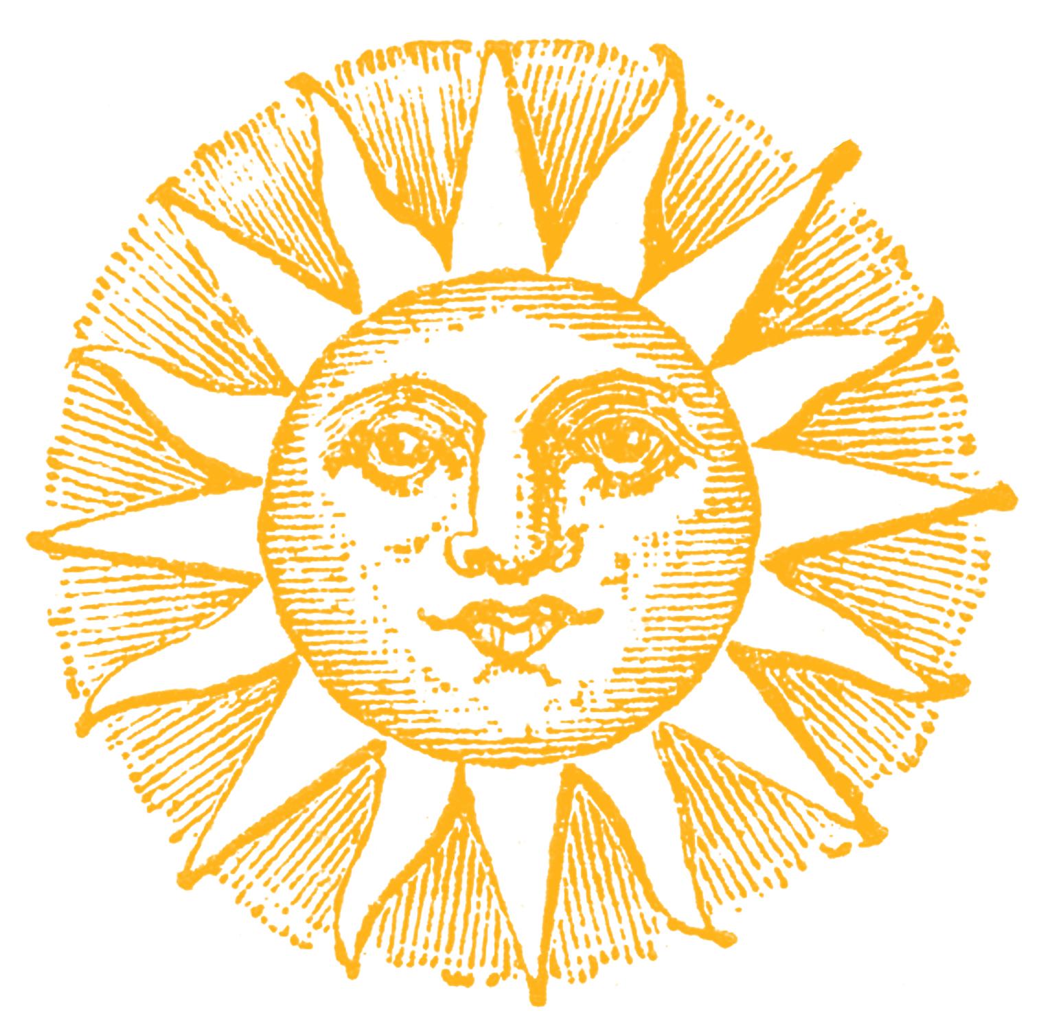 Triipy clipart celestial The Sun Fashioned Sun Old