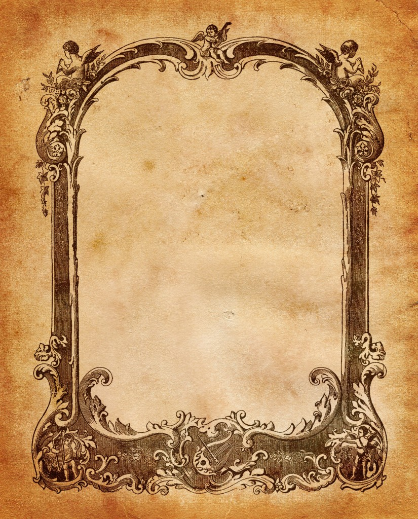 Old Letter clipart paper sheet Music B/W Music Frame also