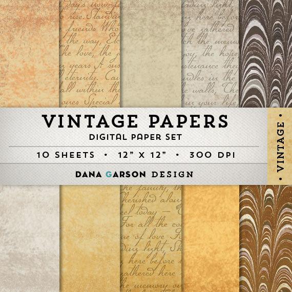Old Letter clipart paper sheet Papers letters Vintage 10 crafts