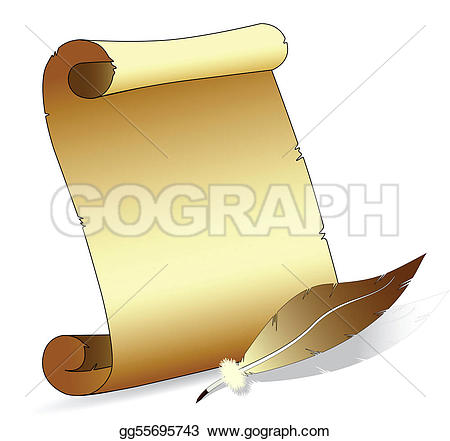 Scroll clipart feather With Free Design feather old
