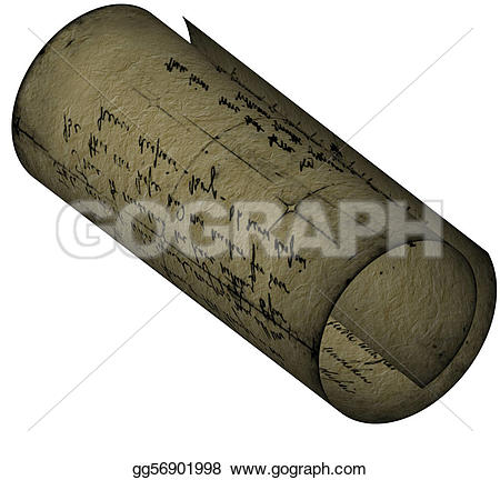 Old Letter clipart rolled Illustration  Stock old Textural