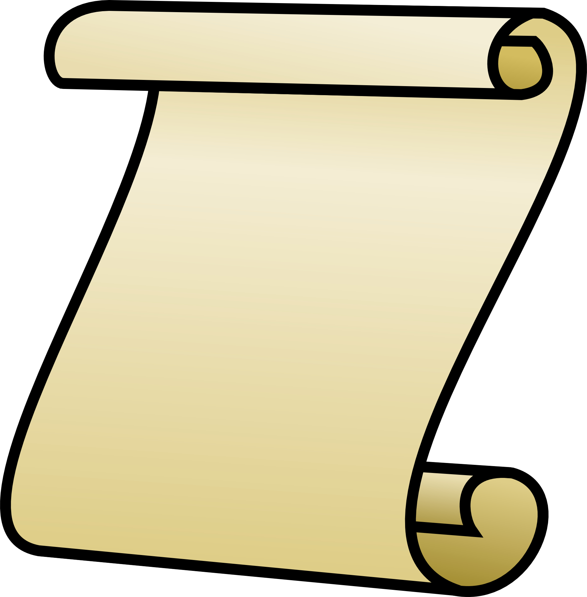 Old Letter clipart rolled Vector Scroll Vector Scroll Images