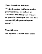 Old Letter clipart thank you letter A Hero you A Troops: