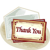 Old Letter clipart thank you letter Of Law University Thanks donors!