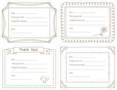 Old Letter clipart thank you letter For Note printable You Notes