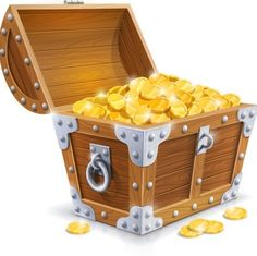 Old Letter clipart treasure box Vector chest the gold winning