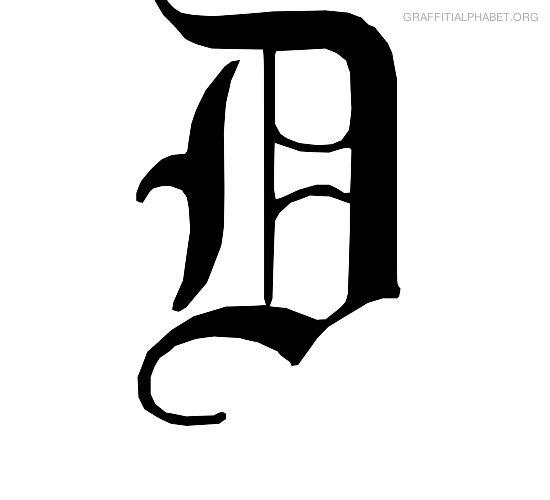 Old Letter clipart writing letter D Alphabet D English D