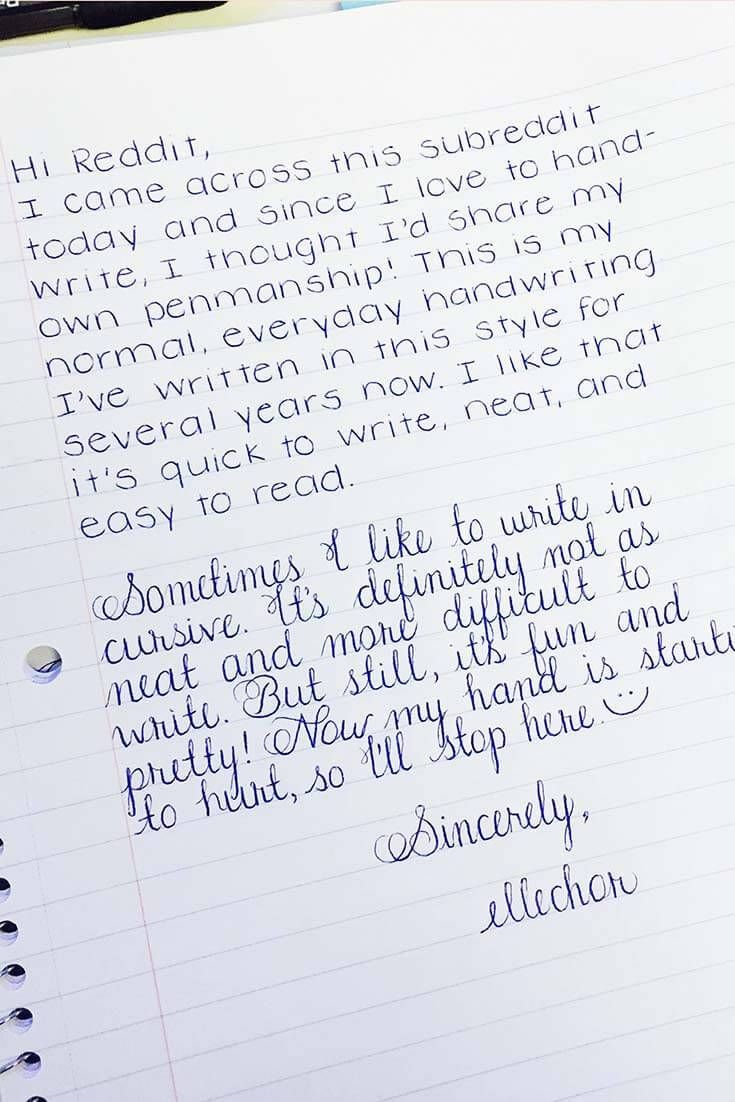 Old Letter clipart written note Of Perfect Handwriting on Best