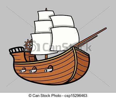 Illustration clipart boat Vector Vector Art Ship Vikings