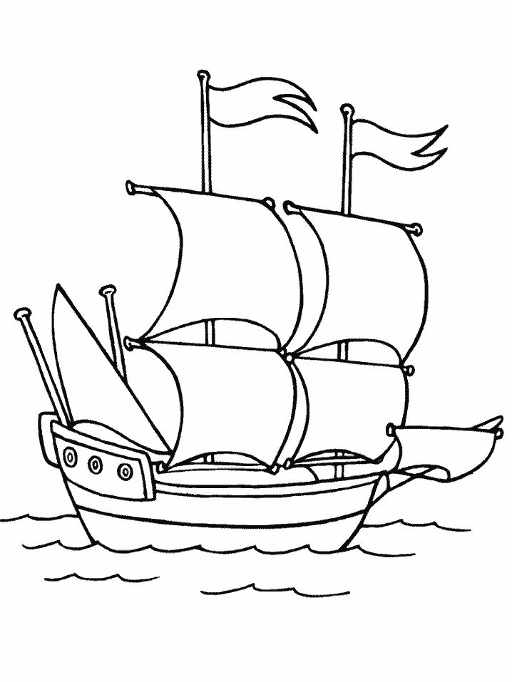 Old Sailing Ships clipart coloring page Images Mayflower best Pages free