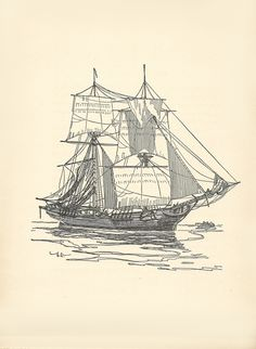 Old Sailing Ships clipart tall ship X paper  1820 Capital