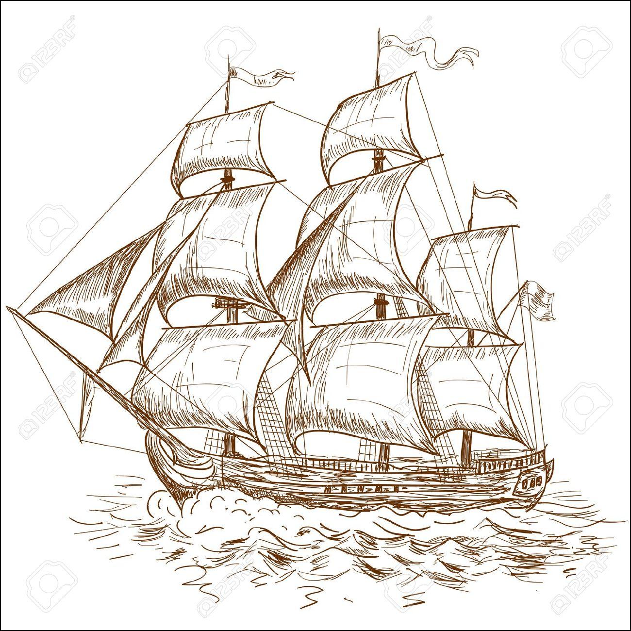 Old Sailing Ships clipart vintage Sailing Old  ships Pinterest