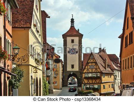 Old Town clipart rothenburg ob der tauber Town for of known old