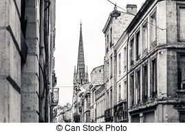 Old Town clipart street view Bordeaux old of view France