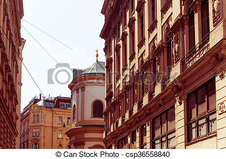 Old Town clipart street view Vienna town view of
