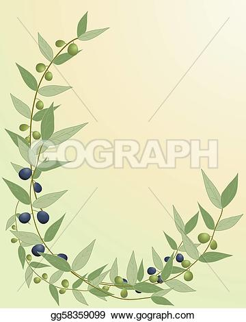Olive clipart border Green with gg58359099  a