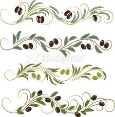 Olive clipart border  tiles painted of border