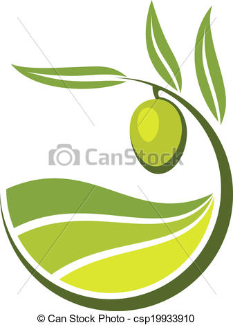 Olive Oil clipart vector Clip Vector Fresh green olive