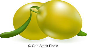 Olive clipart green olive Vector 7 420 clip White