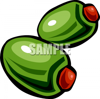 Olive clipart green olive This Two olives stuffed It