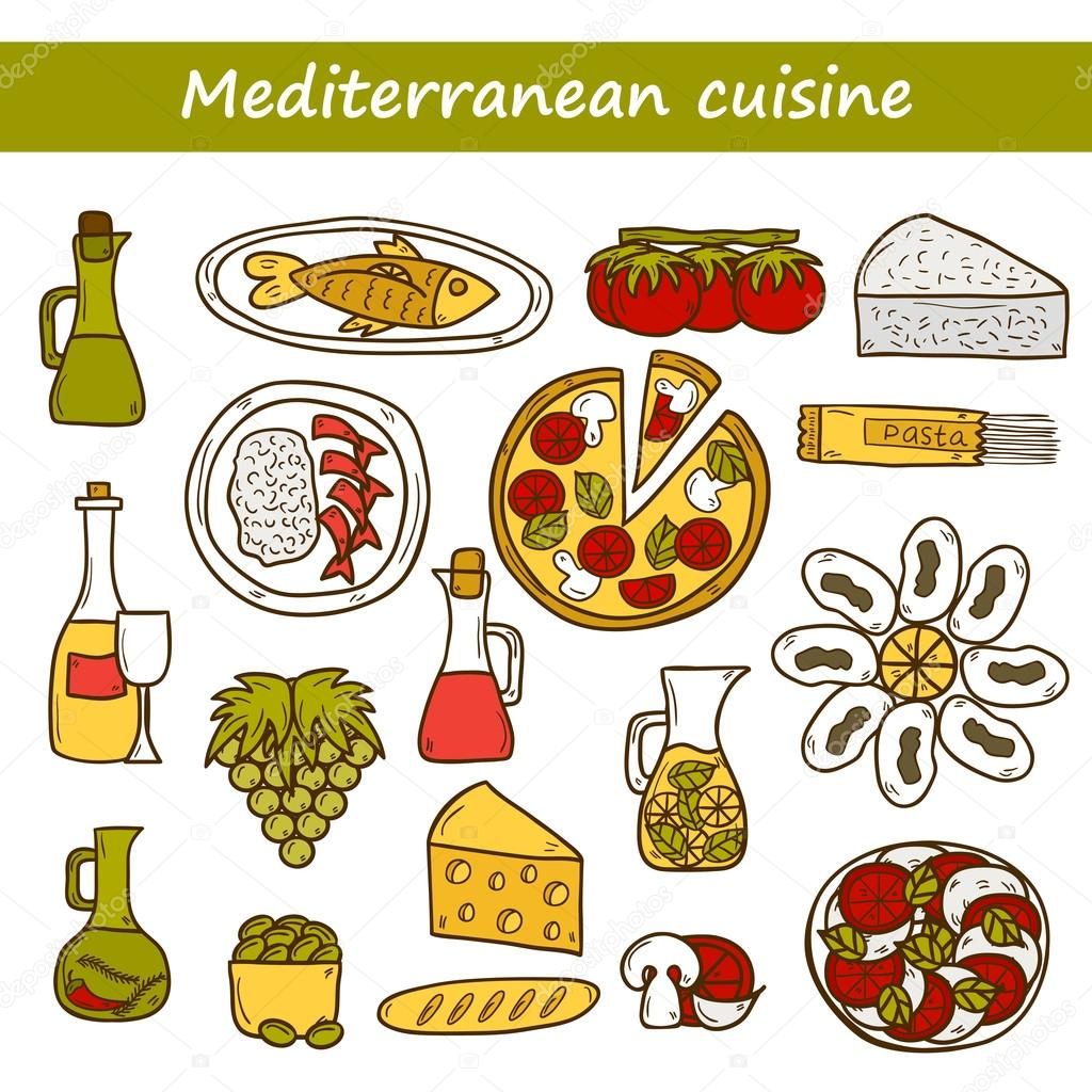 Olive clipart mediterranean food For Great drawn objects cartoon