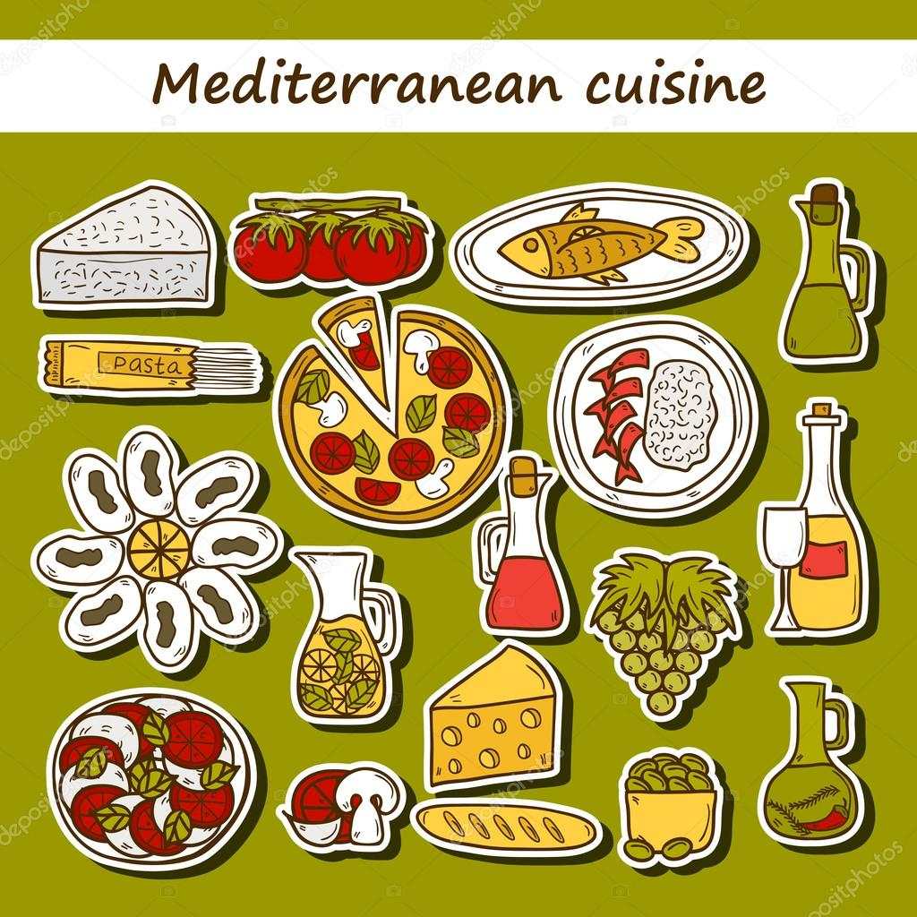 Olive clipart mediterranean food For Great drawn stickers cartoon