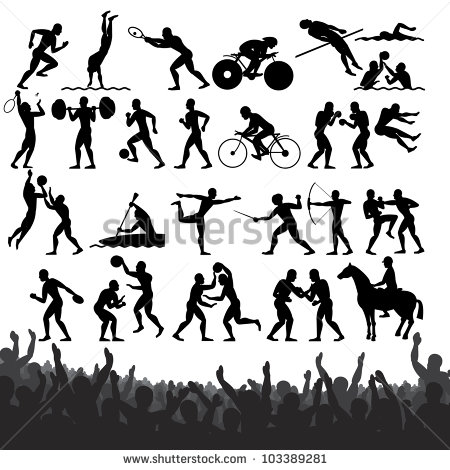Biker clipart olympics sport Olympic Silhouette Clipground clipart Stock