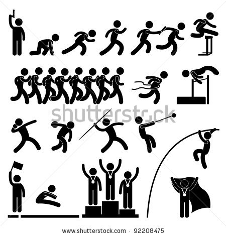 Olympic Games clipart athletics event Pictogram Winner Sign Celebration and
