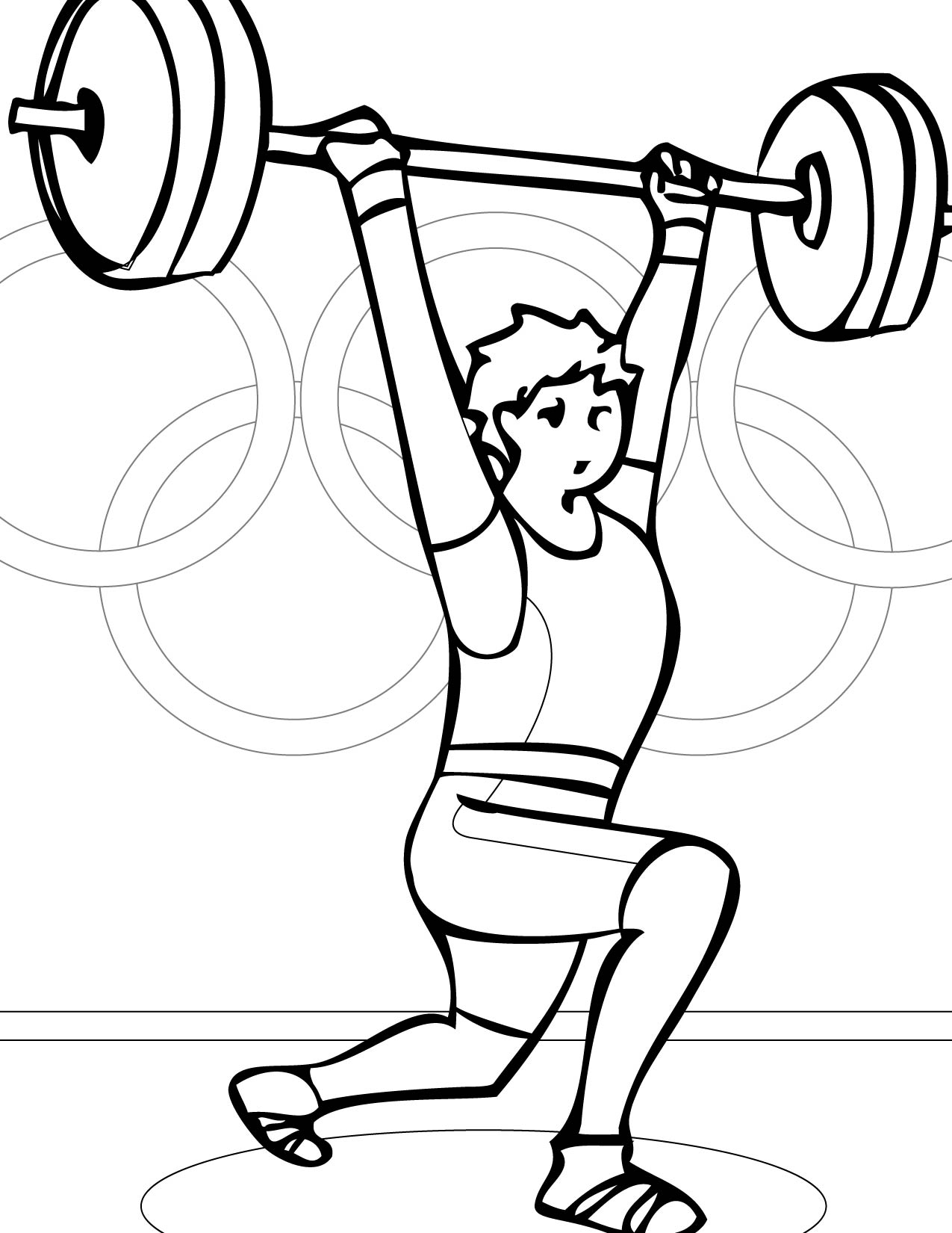 Olympic Games clipart lift weight #6