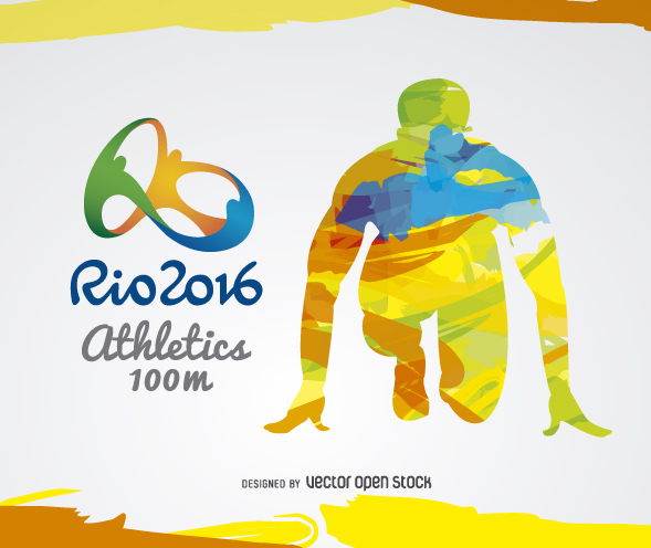 Olympic Games clipart runner #7