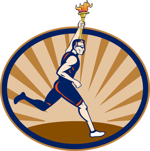 Olympic Games clipart runner #2